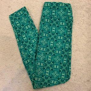 LuLaRoe Green Tie-dye Leggings